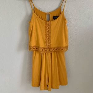 top shop yellow romper